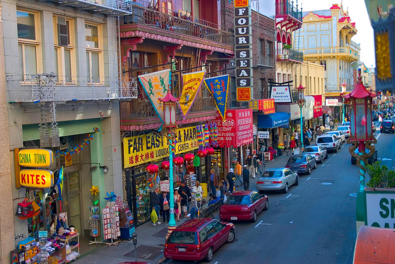 Città di San Francisco Cina fotografie stock