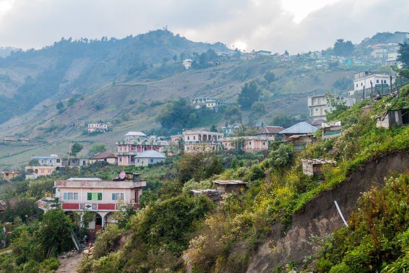 Città di San Mateo Ixtatan, Guatema fotografie stock libere da diritti
