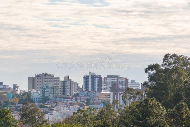 Città di Santa Maria, Brasile immagini stock