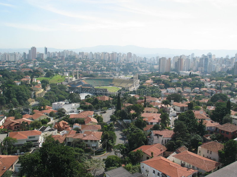 Città di Sao Paulo immagine stock libera da diritti