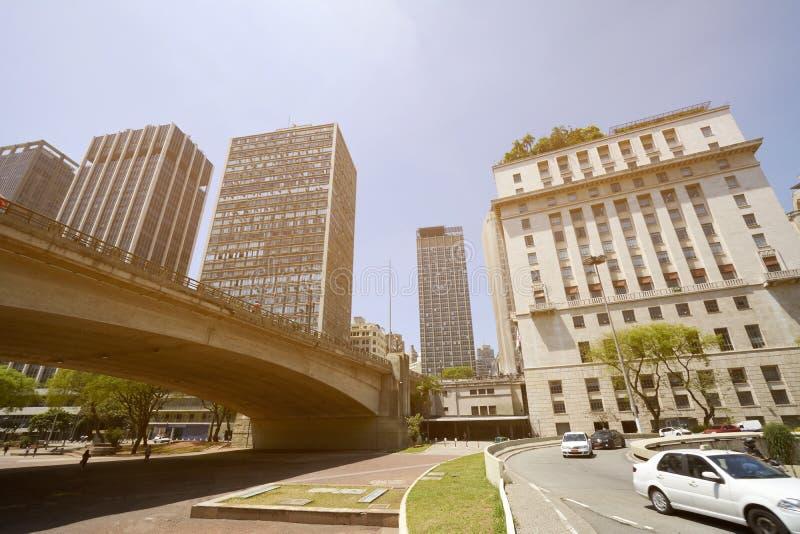 Città di Sao Paulo nel Brasile fotografia stock