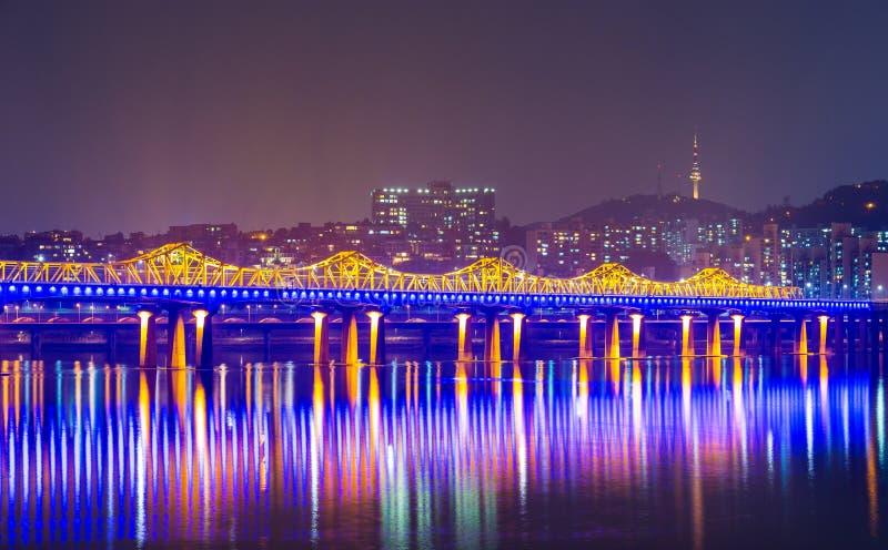 Città di Seoul in Corea del Sud fotografia stock libera da diritti