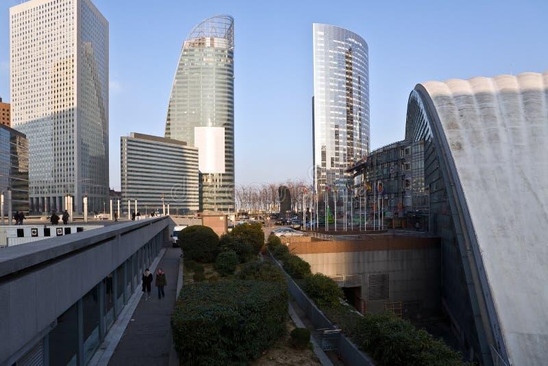 Città di settore commerciale di Parigi immagini stock