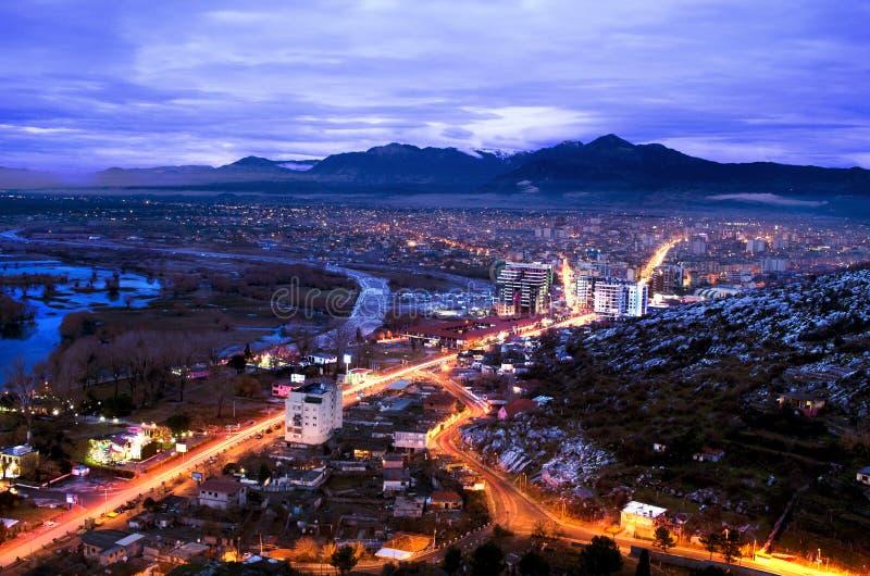 Città di Shkodra fotografia stock