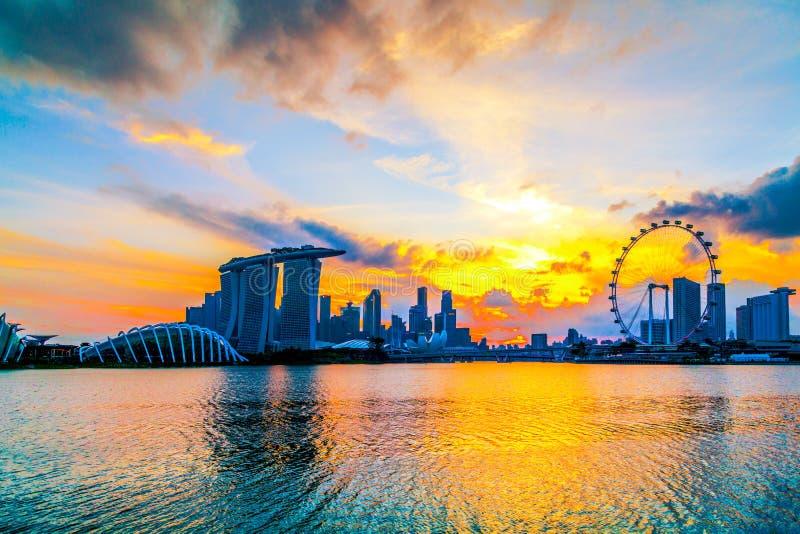 Città di Singapore, Singapore: Gennaio 2,2018: Orizzonte di Singapore Singap fotografia stock