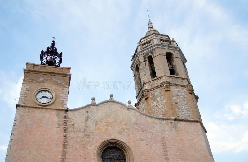 Città di Sitges fotografie stock libere da diritti