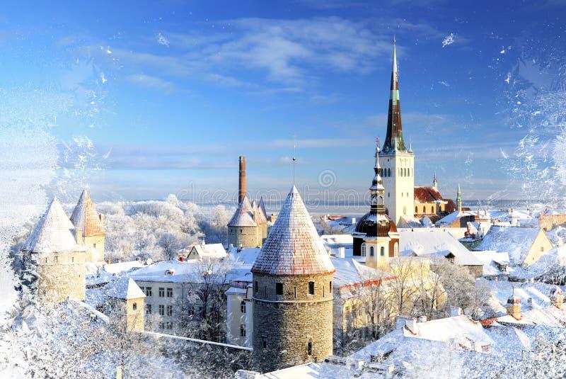 Città di Snowy immagini stock libere da diritti