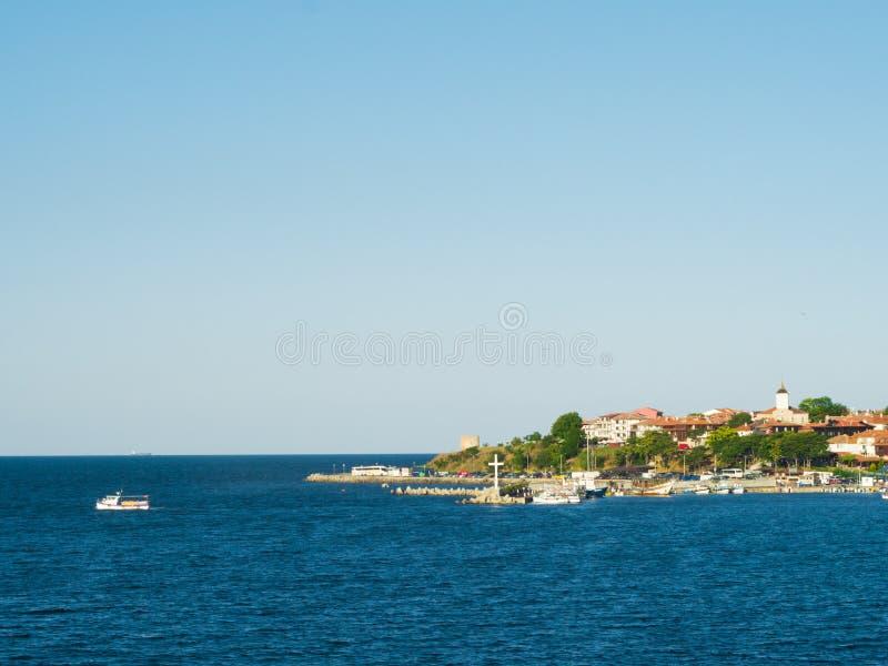 Città di spiaggia fotografie stock libere da diritti