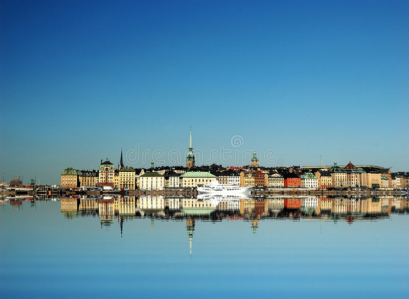 Città di Stoccolma fotografie stock libere da diritti