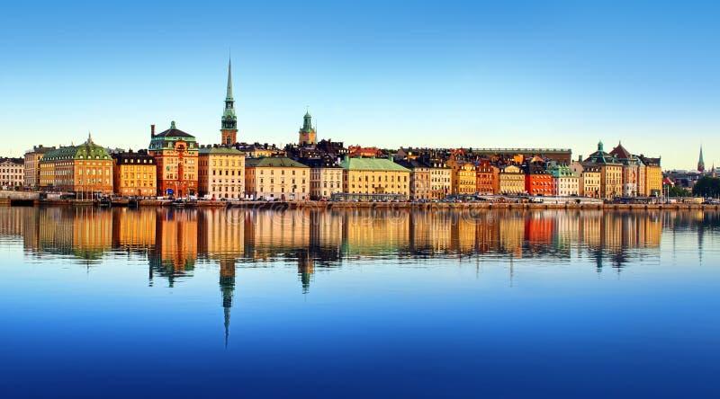 Città di Stoccolma fotografia stock libera da diritti