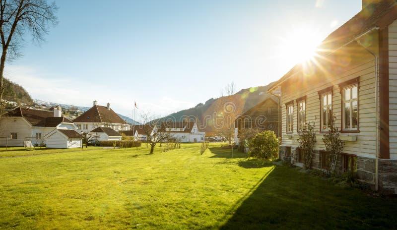 Città di Stryn in Norvegia immagini stock