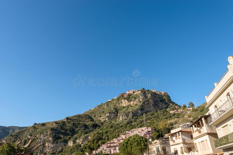 Città di Taormina - isola Italia della Sicilia fotografia stock