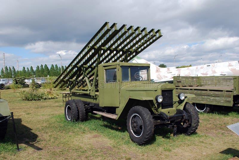 Città di Togliatti Museo tecnico di K G sakharov Mostra del modello del museo BM-13-80 del ` di Katyusha del ` immagine stock