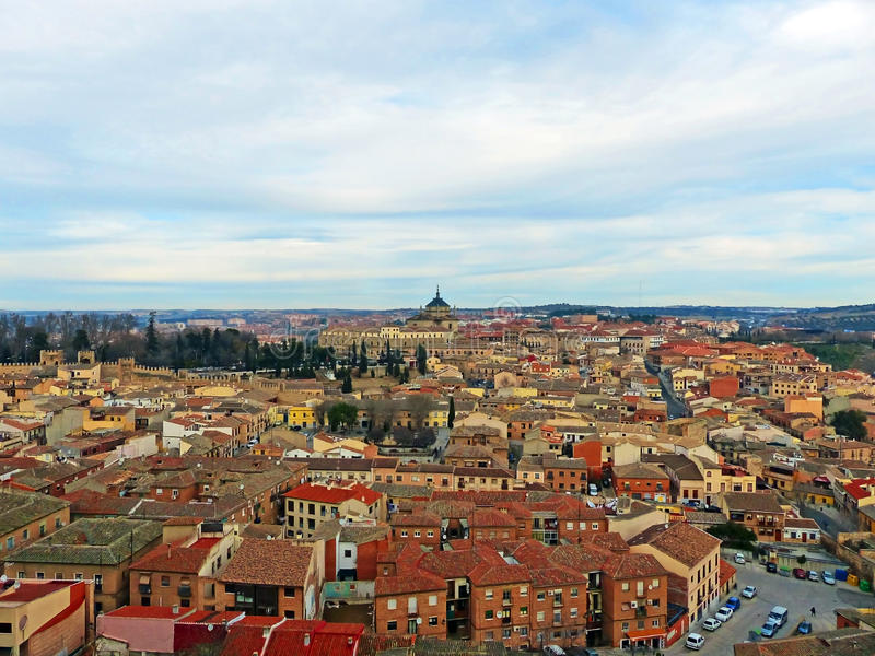 Città di Toledo in autunno fotografie stock libere da diritti