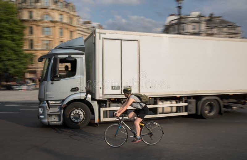 Città di Trafalgar Square di Londra fotografia stock libera da diritti
