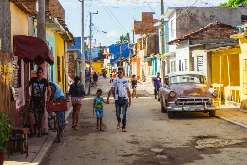 Città di Trinidad Stile di vita cubano immagini stock libere da diritti