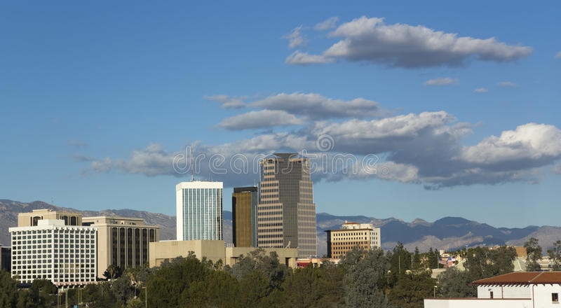 Città di Tucson, AZ immagini stock