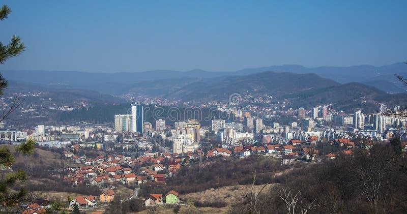 Città di Tuzla fotografie stock libere da diritti
