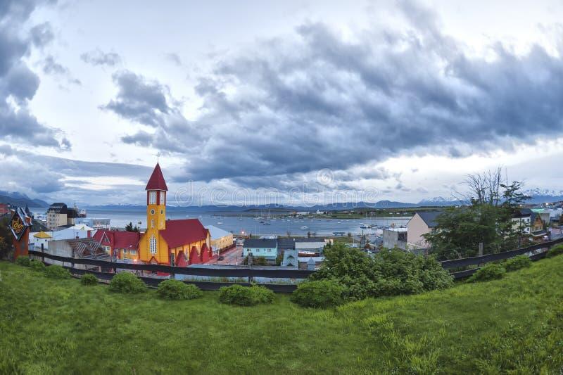 Città di Ushuaia, Tierra del Fuego, Argentina immagine stock libera da diritti