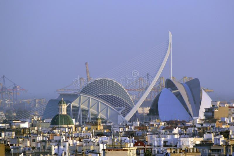Città di Valencia delle arti e delle scienze fotografia stock libera da diritti