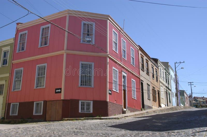 Città di Valparaiso, Cile. immagini stock
