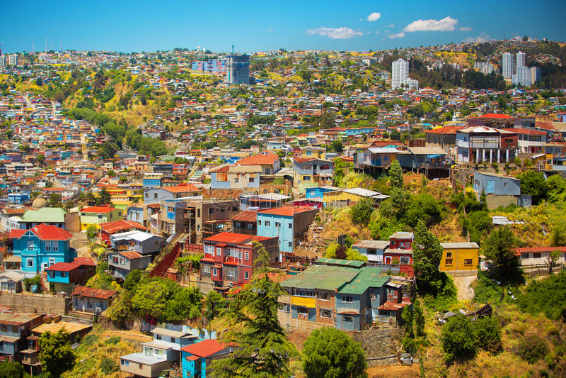 Città di Valparaiso, Cile fotografie stock libere da diritti