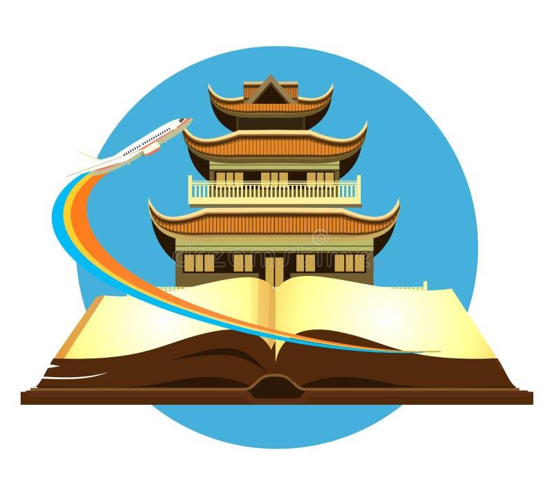 Città di viaggio del libro royalty illustrazione gratis