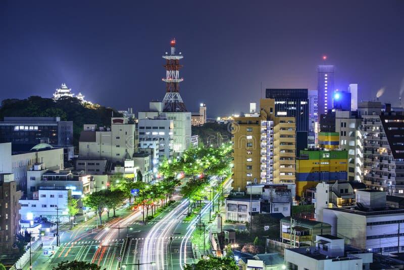 Città di Wakayama, Giappone fotografia stock