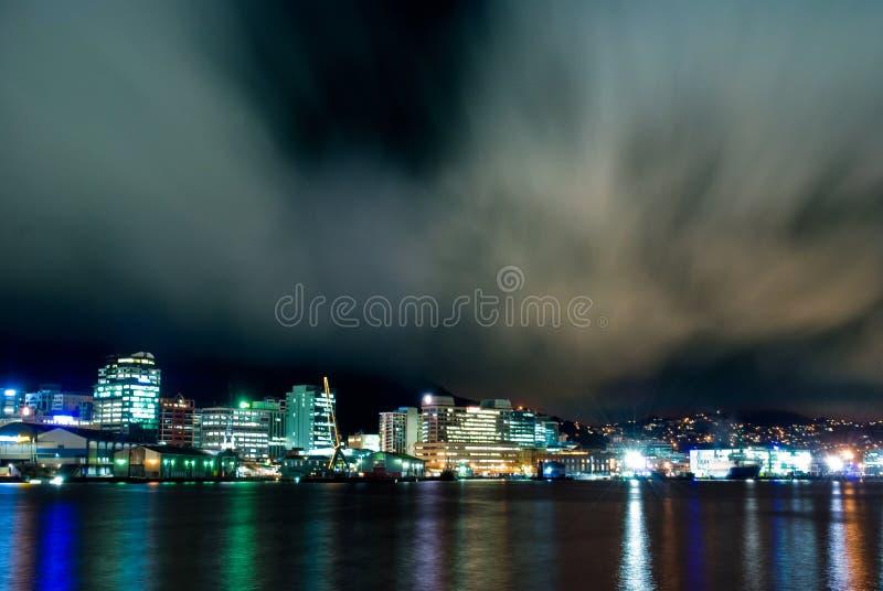 Città di Wellington, Nuova Zelanda fotografia stock libera da diritti
