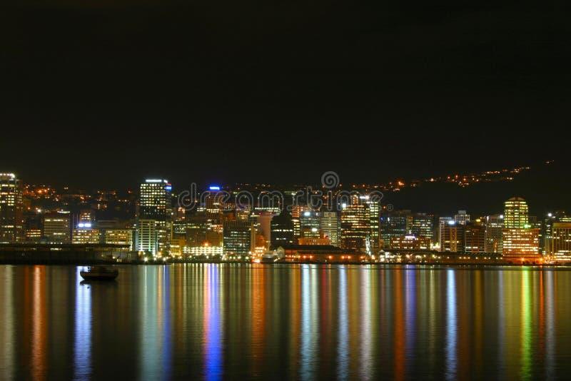 Città di Wellington, Nuova Zelanda immagine stock libera da diritti