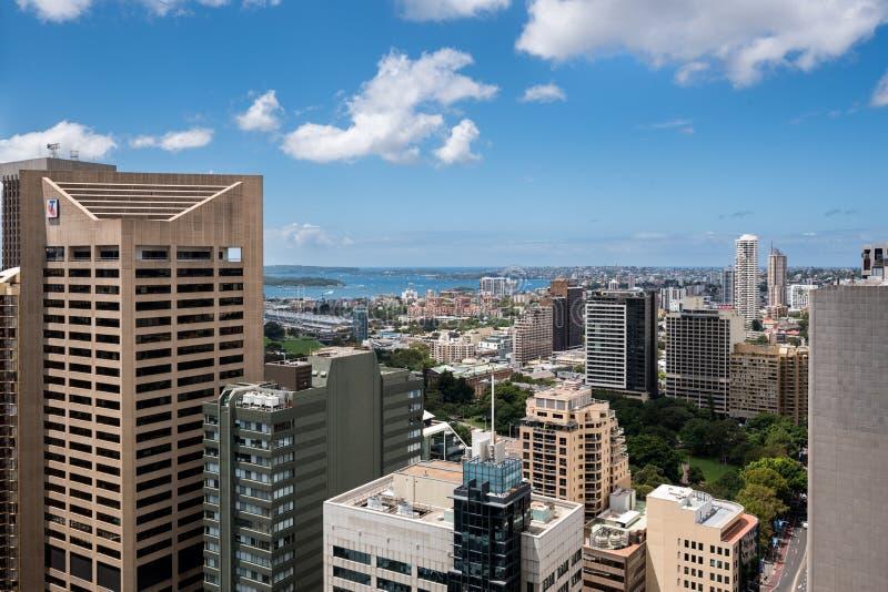 Città e baia di Sydney da altezza immagine stock libera da diritti