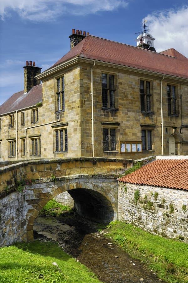 Città e fiume di Helmsley fotografie stock libere da diritti