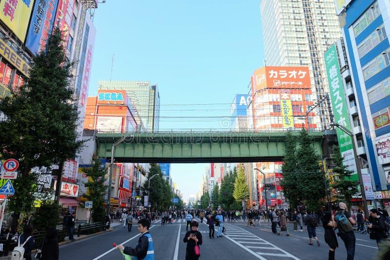 Città elettronica Tokyo Giappone fotografia stock libera da diritti