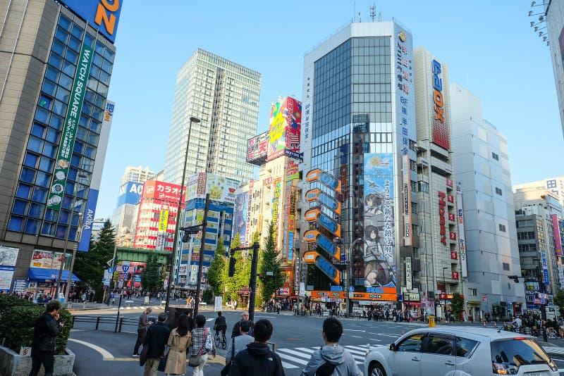 Città elettronica Tokyo Giappone fotografie stock