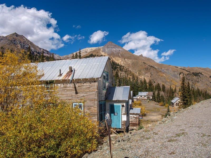 Città fantasma di Idarado vicino a Silverton, Colorado fotografia stock