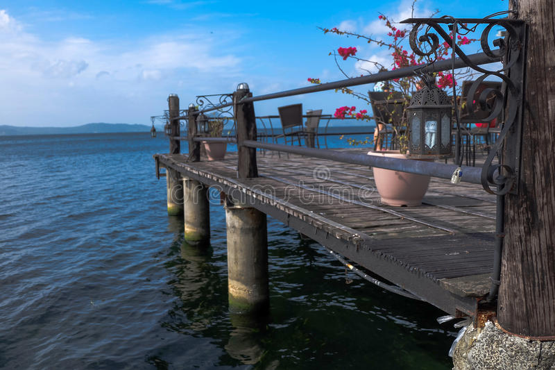 Città Filippine di Batangas del lago Taal immagine stock libera da diritti