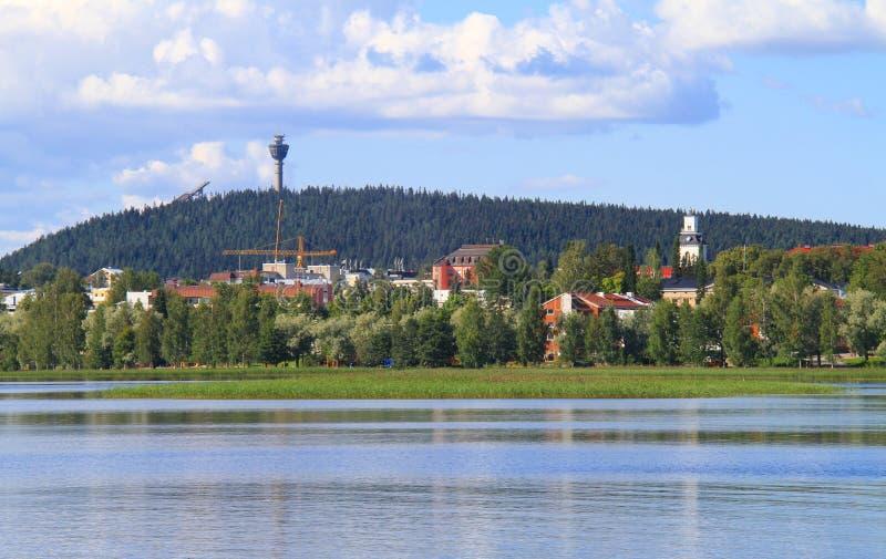 Città finlandese pittoresca fotografie stock libere da diritti