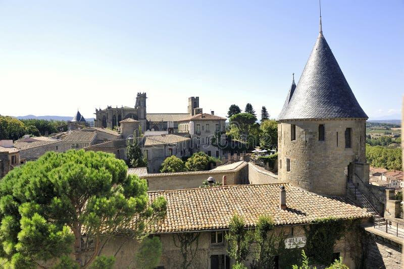 Città fortificata di Carcassonne fotografia stock libera da diritti