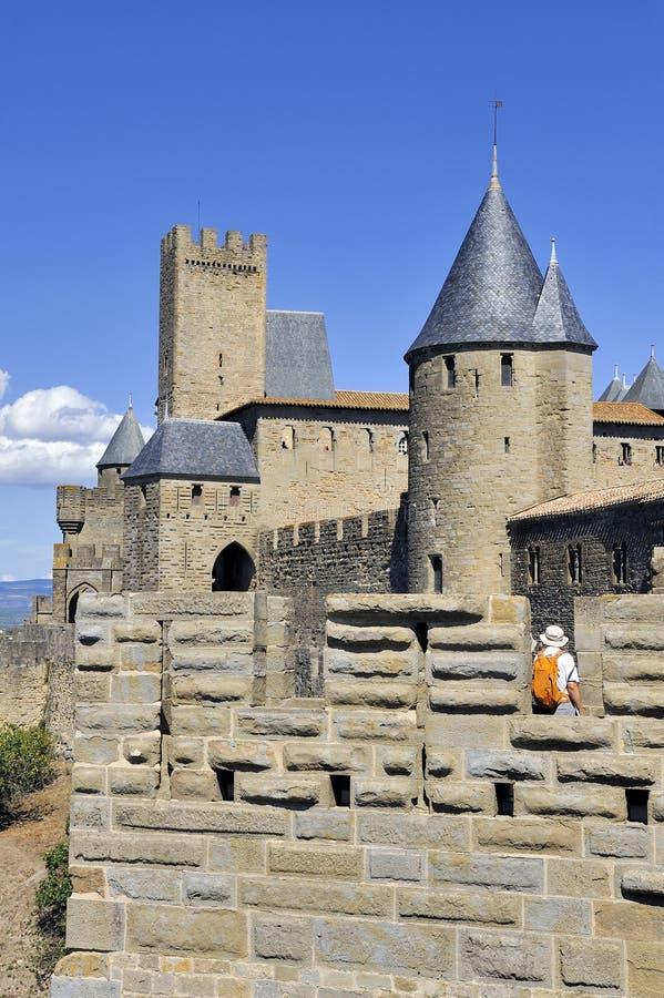 Città fortificata di Carcassonne immagine stock