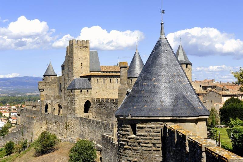 Città fortificata di Carcassonne immagini stock libere da diritti