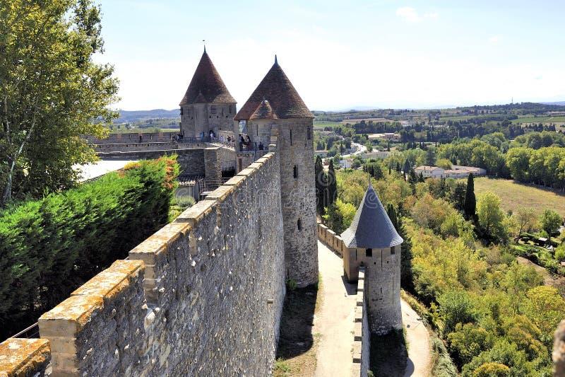 Città fortificata di Carcassonne immagine stock libera da diritti
