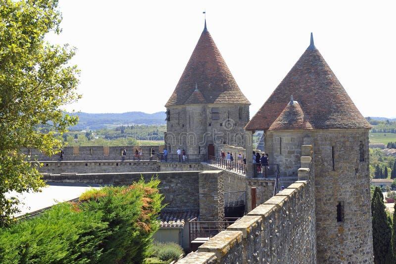 Città fortificata di Carcassonne fotografia stock