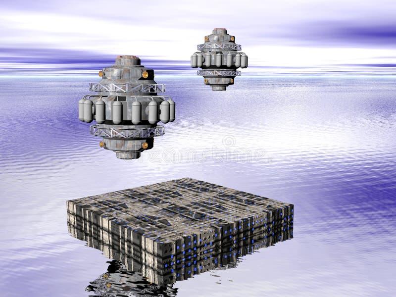 Città futura illustrazione vettoriale