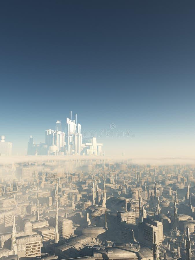 Città futura Megastructure illustrazione di stock