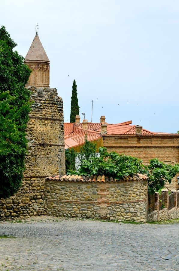 Città georgiana antica Signakhi fotografia stock