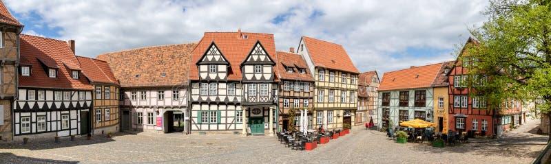 Città Germania di Quedlinburg fotografia stock libera da diritti