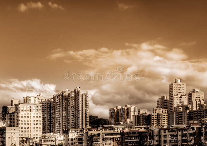 Città in giorno fotografia stock libera da diritti