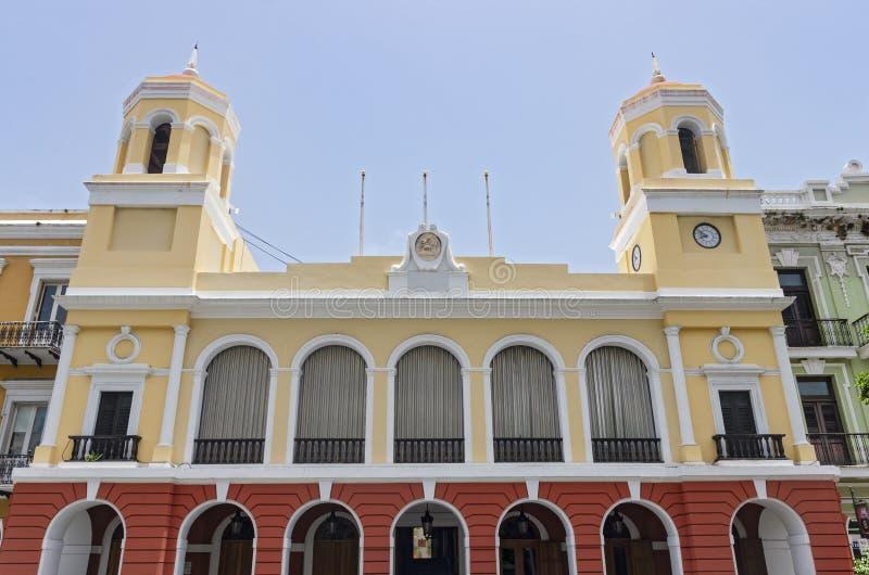 Città Hall Building a vecchio San Juan fotografie stock