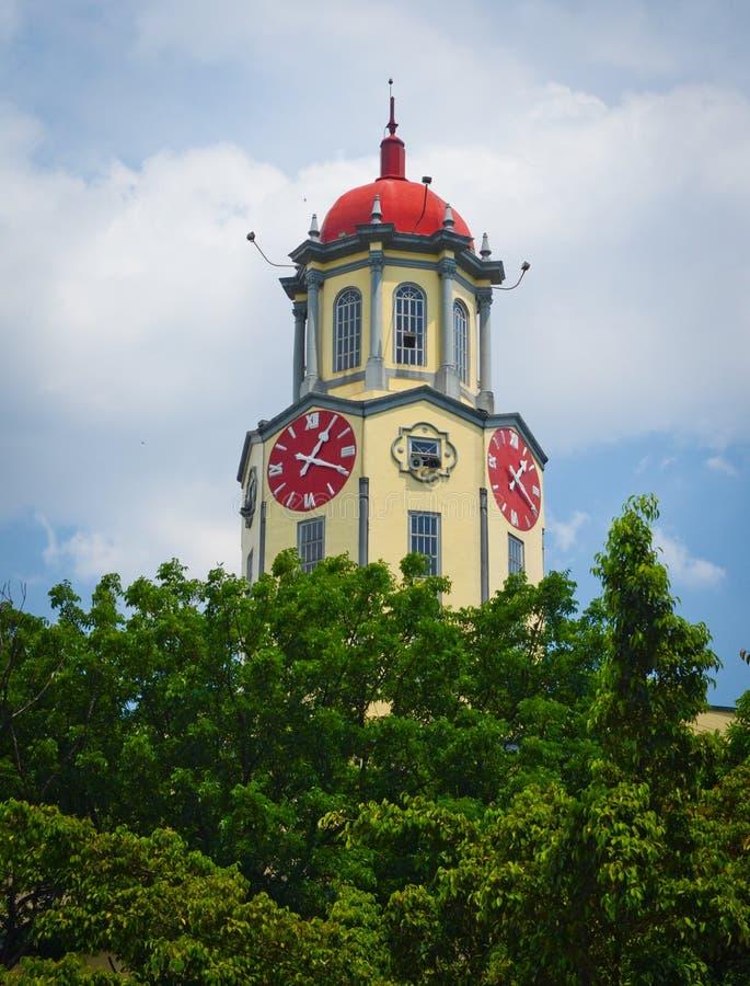 Città Hall Clock Tower di Manila fotografia stock