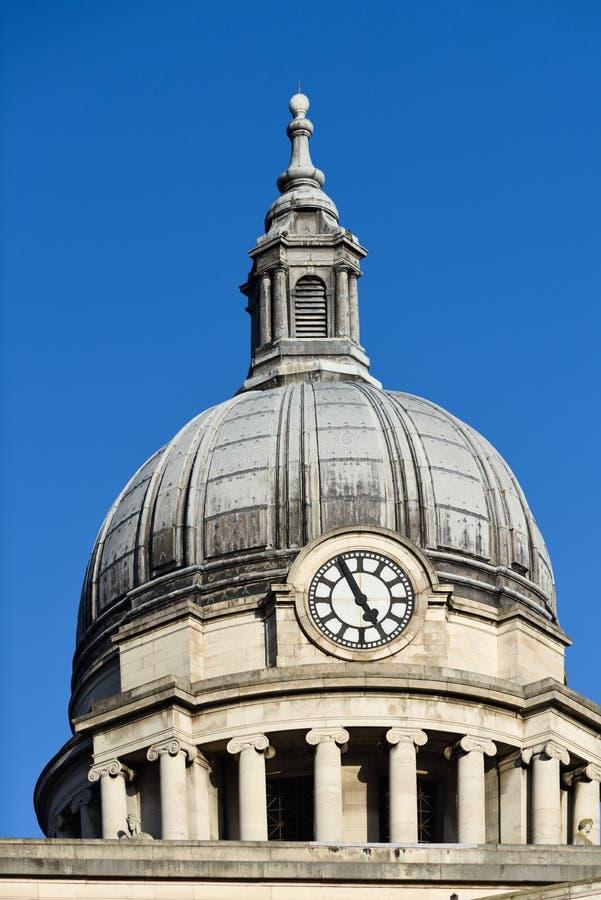 Città Hall Dome Building, Regno Unito di Nottingham immagine stock